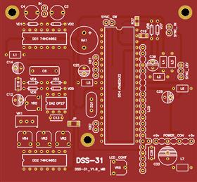 PCB for digital oscilloscope probe DSS-31 (for test ONLY!)