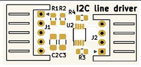 I2C Line Driver with remote LDO power supply.