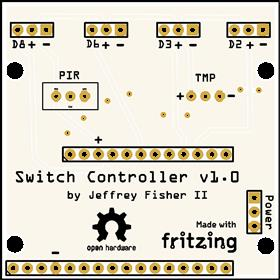 4 Servo Light Switch Controller Board