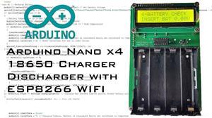 Brett's Arduino 4x ASCD 18650 Smart Charger Discharger 1.12