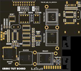 EMMC test adapter for Z3X box (V1)