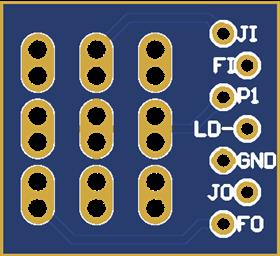 3PDT Stomp Switch True Bypass Breakout Board