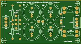 Fuente simetrica de potencia - kriss  electronics - CADCAM