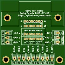 OBD2 Test Board Rev. 1.1