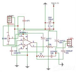 Audio Amplifier using Lm386.
