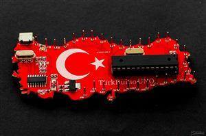 TürkDuino Uno R4 V2 - Turkey Flag Arduino Uno