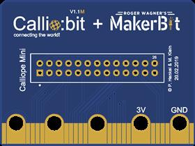 Calliobit M       Calliope Mini To MakerBit Bridge