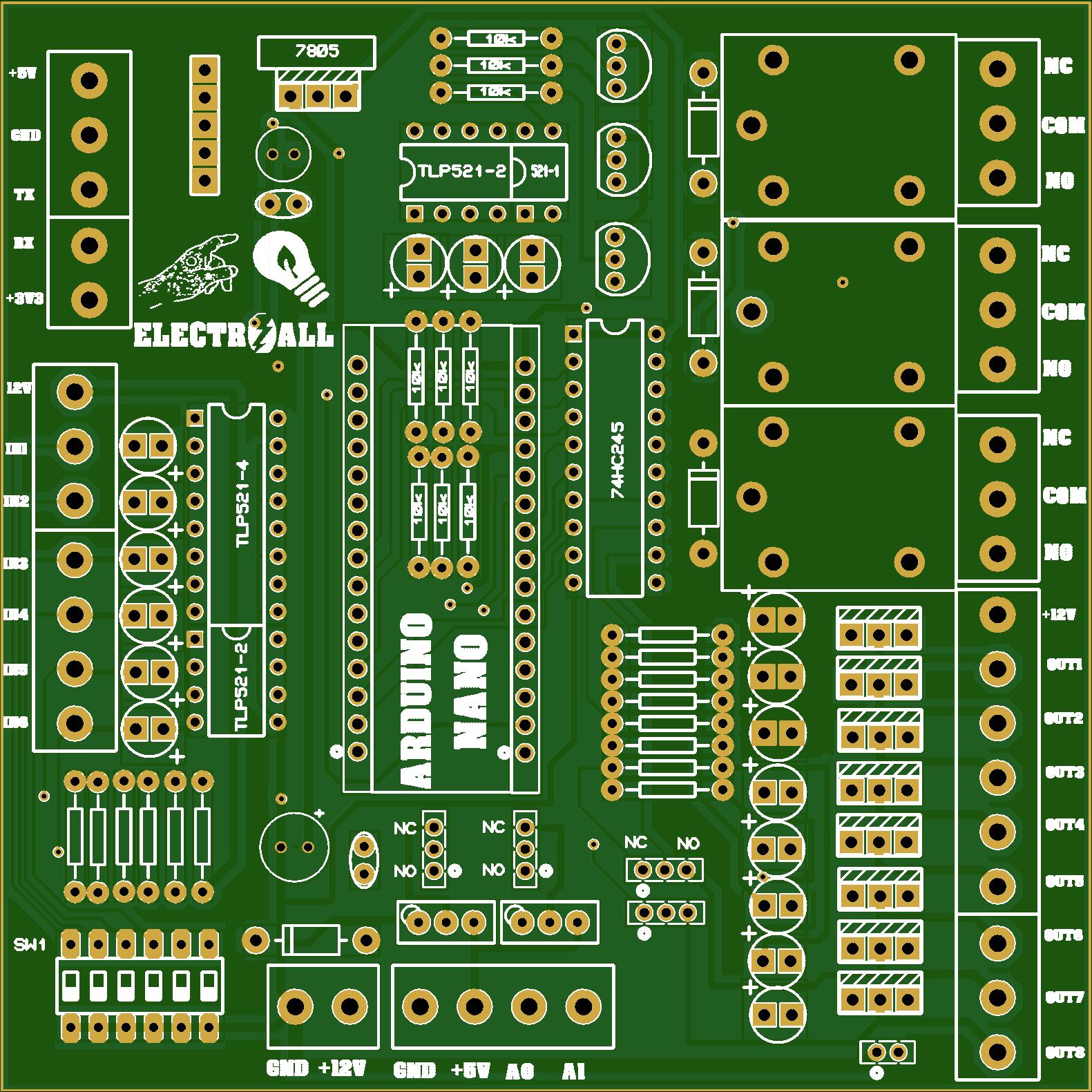 Modulo De Entradas Y Salidas Para Arduino Nano Share