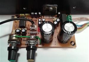 Amplifier for subwoofer TL074 and TDA7294 \ Усилитель для сабвуфера