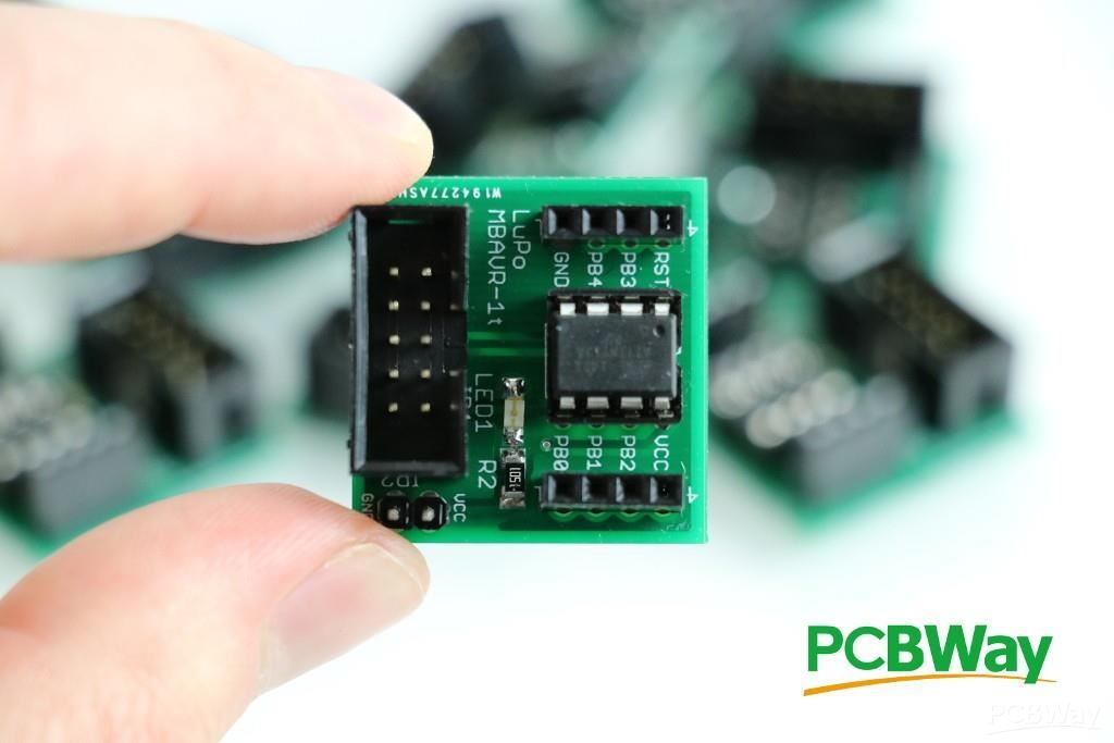 AVR development board for ATtiny13, ATtiny25, ATtiny85, etc