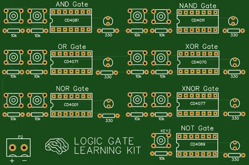 Logic gate learning kit