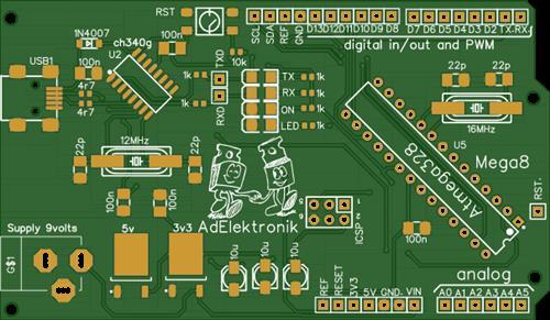 Arduino Uno mega8