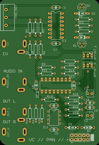 Voltage control panner