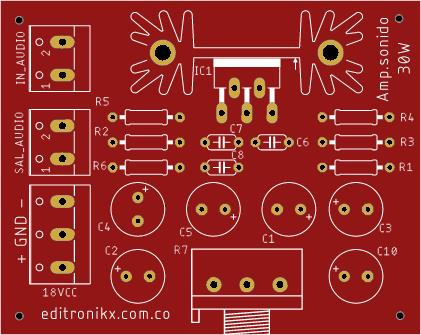 amplificador de sonido de 14w tda2030