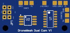 DroneMesh FPV Dual Camera PCB (Programmable)
