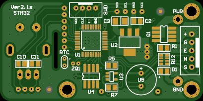 PCB ver2.1s for self-manufacturing of a soldering station controller for T12 tips.
