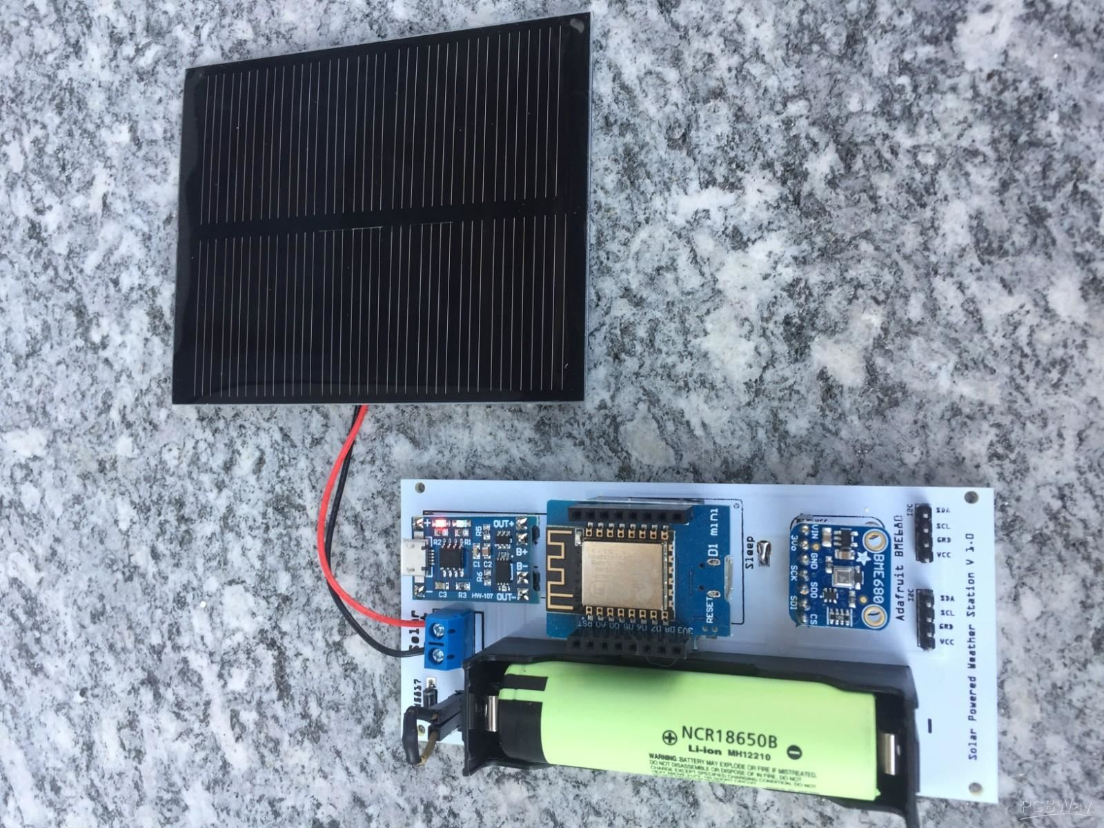 Solar Powered Weather Station V 1 0 - Share Project - PCBWay