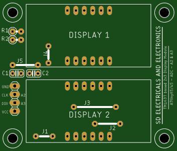 TM1637 Based 7 Segment Module/ATtiny85/45 - 2 Channel ADC
