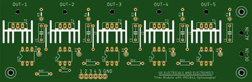 5 Channel Triac  Module with Optocoupler