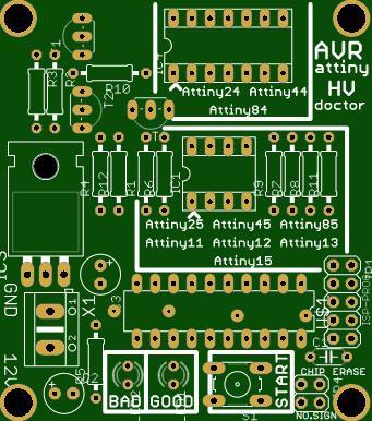 Repair Dead AVR's - T2313 Attiny Fusebit Doctor (HVSP) V3