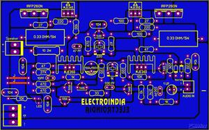 200 Watts Mono Audio Amplifier Board_DIY_IRFP260N N-Channel MOSFET_ElectroIndia