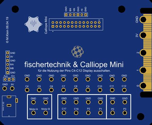 Calliope Mini - Fischertechnik PCB