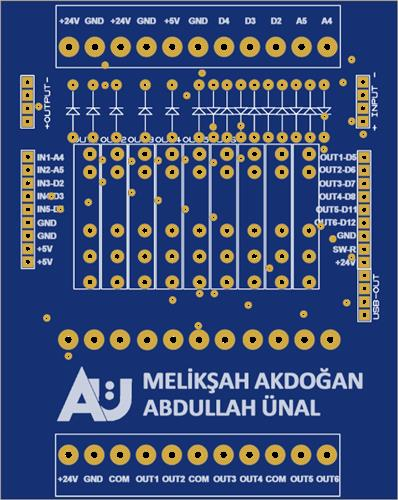 Arduino-PLC Project Relay Card (Card 1 of 5)