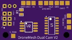DroneMesh Dual FPV Camera Board V2 // Oepn Hardware