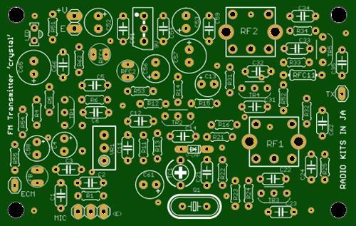FM mod transmitter for beginer:crystal osc.