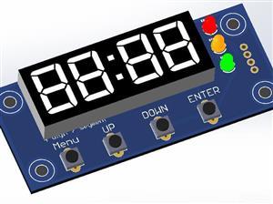 TM1637 display with buttons and leds for Arduino