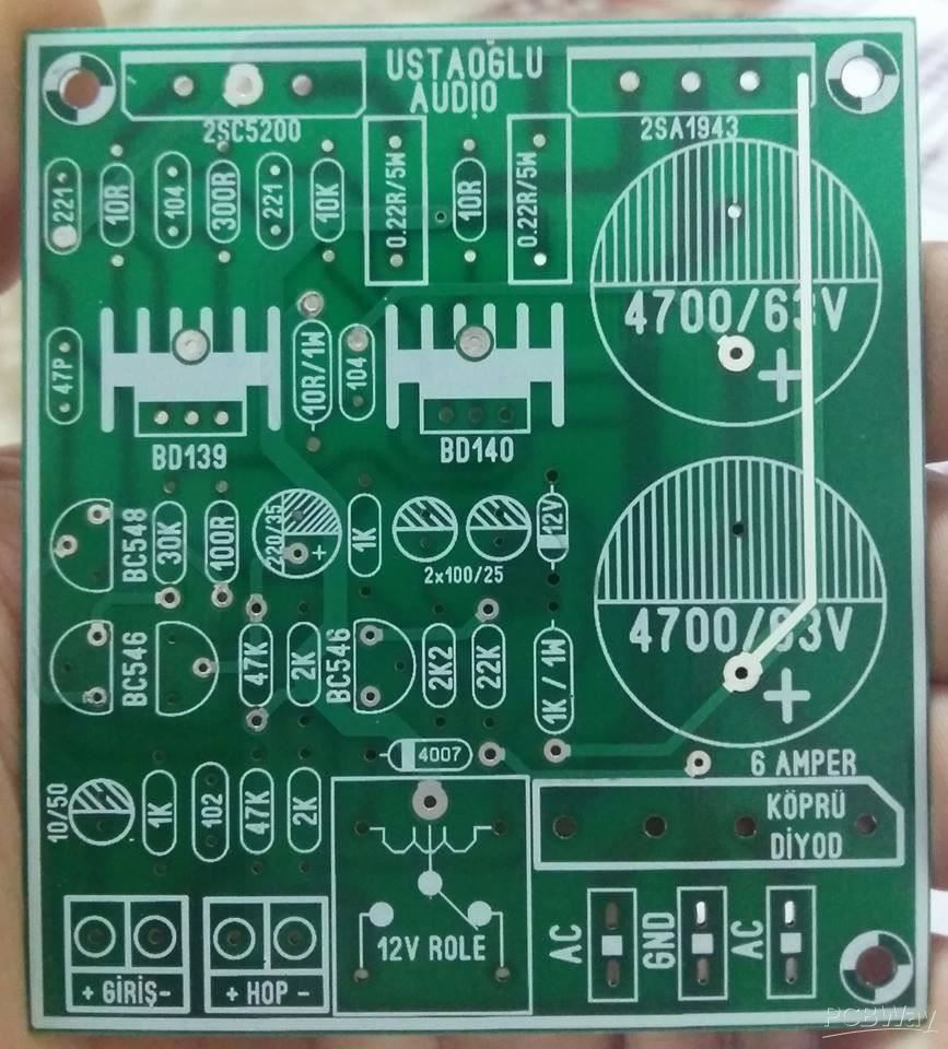 150 WATTS AMPLIFIER 2SC5200 AND 2SA1943 - Share Project - PCBWay