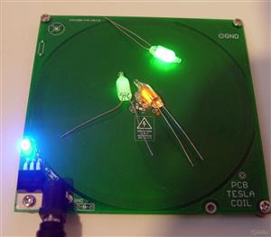 Easy Open Tesla coil on PCB