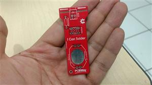 "Flashlight ""I CAN SOLDER"" red color"