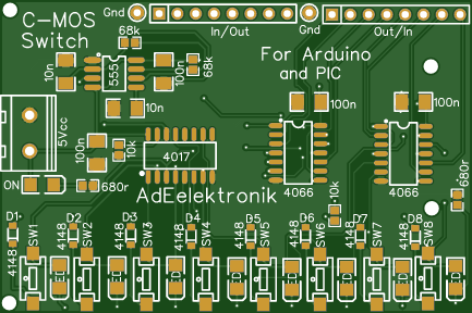 In out Select Switch C-mos for Arduino and Pic or for User