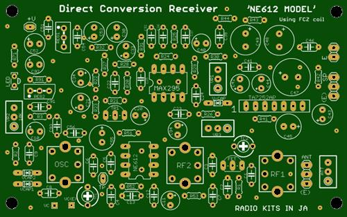 NE602+MAX295:  direct conversion receiver. cut off=3khz