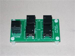 Phone Selector/Adapter 2-line to 1-line
