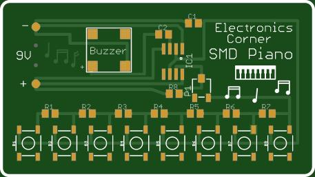 SMD 555 Timer Piano