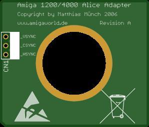 Amiga 1200/4000 Alice Adapter