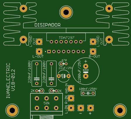 Amplificador de Audio Estereo 30W