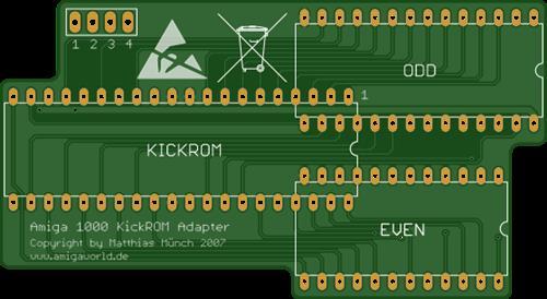 Amiga 1000 Kickstart ROM Adapter
