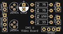Sega Master System II Composite Video Board