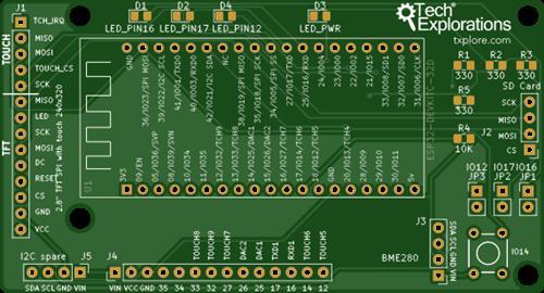 ESP32 breakout board v1.3 (updated March 12, 2020)