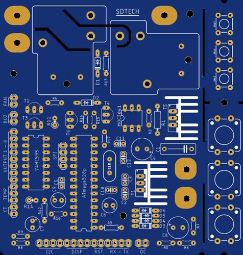 Atmega328p-pu Voltage Stabilizer Controller