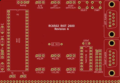 RC6502 Apple 1 Replica (RIOT 2600 revision A)