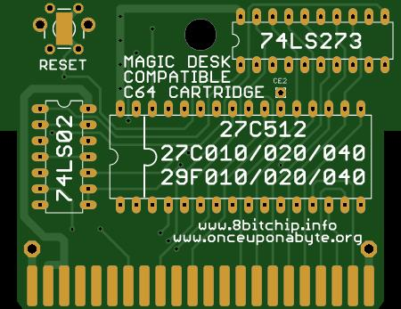 C64 Magic Desk 512k Cartridge