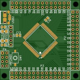 STM32H750VB test board