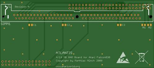 Atari Falcon 030 - Atlantis 4/14 MB RAM Board