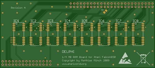 Atari Falcon 030 - Delphi 1/4 MB RAM Board