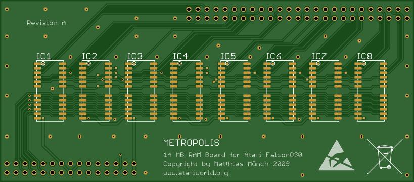 Atari Falcon 030 - Metropolis 14 MB RAM Board - Share