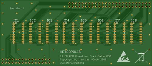 Atari Falcon 030 - Metropolis 14 MB RAM Board